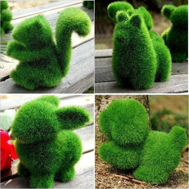 Fake grass decor decorate your home with artificial for Artificial grass decoration crafts