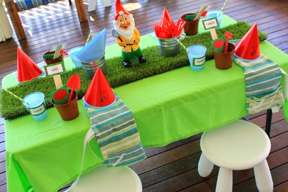 Gardening Party with fake grass