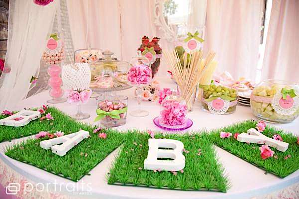 Gardening Themed Party Table